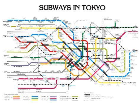 Tokyo Metro Map Japan In 2019 Pinterest Tokyo Subway Tokyo