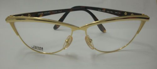 vintage 80s collectors versace frame eyeglasses cateye gold metal made in italy eyeglasses italy and metals