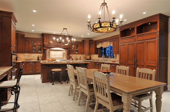 17 best images about kitchen dining room combo on for Dining room kitchen combination