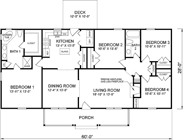 25 best House plans 4 bedroom images – Floor Plans For 4 Bedroom Houses
