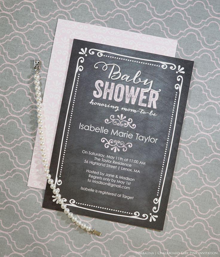 Baby Shower invitations chalkboard design 157 best
