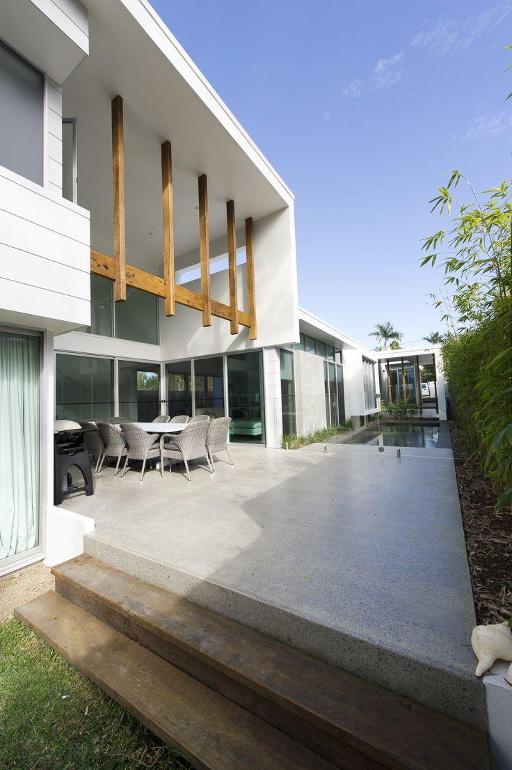 best 25 concrete deck ideas on pinterest