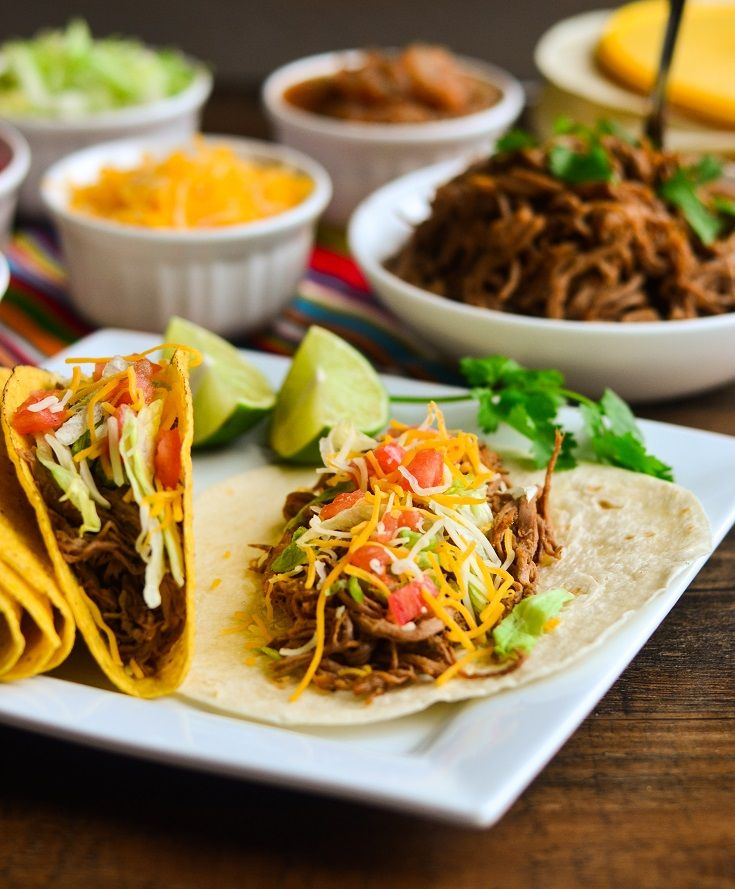 Slow Cooker Beef Brisket Tacos | Recipe | Brisket Tacos, Brisket and ...