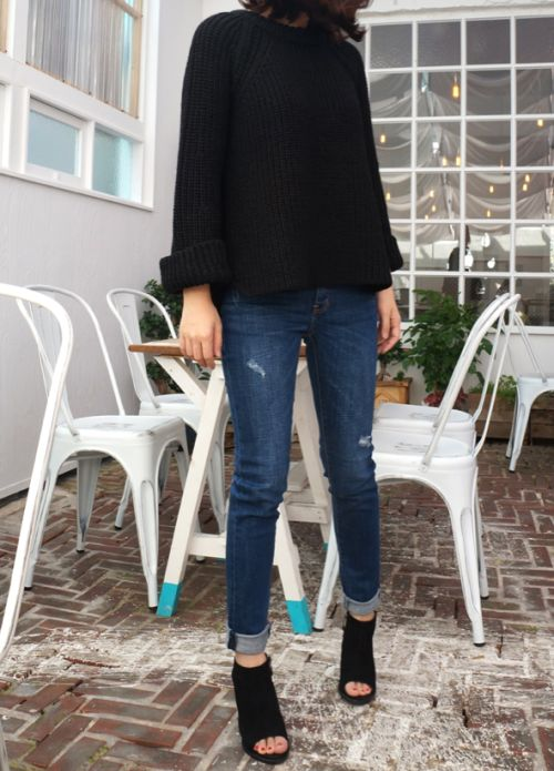 Peep Toe Bootie Outfit Inspo