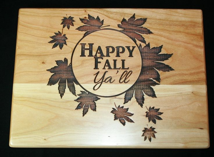 Happy Fall Y'all - Personalized Fall Decor Sign - Fall Decoration - Autumn Decor Personalized Cutting Board - Home Decor, Housewarming Gift by TopChopButcherBlock on Etsy