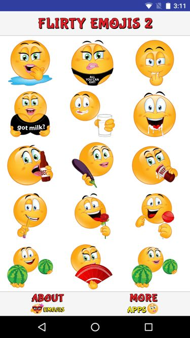 Click on Emoji To Get Flirty Emojis 2 App Pack For Your Device Created by Adult Emojis. #ADULTEMOJIS #EmojiFans #PornEmojis #imessagestickers #stickers #Emoji #dirty