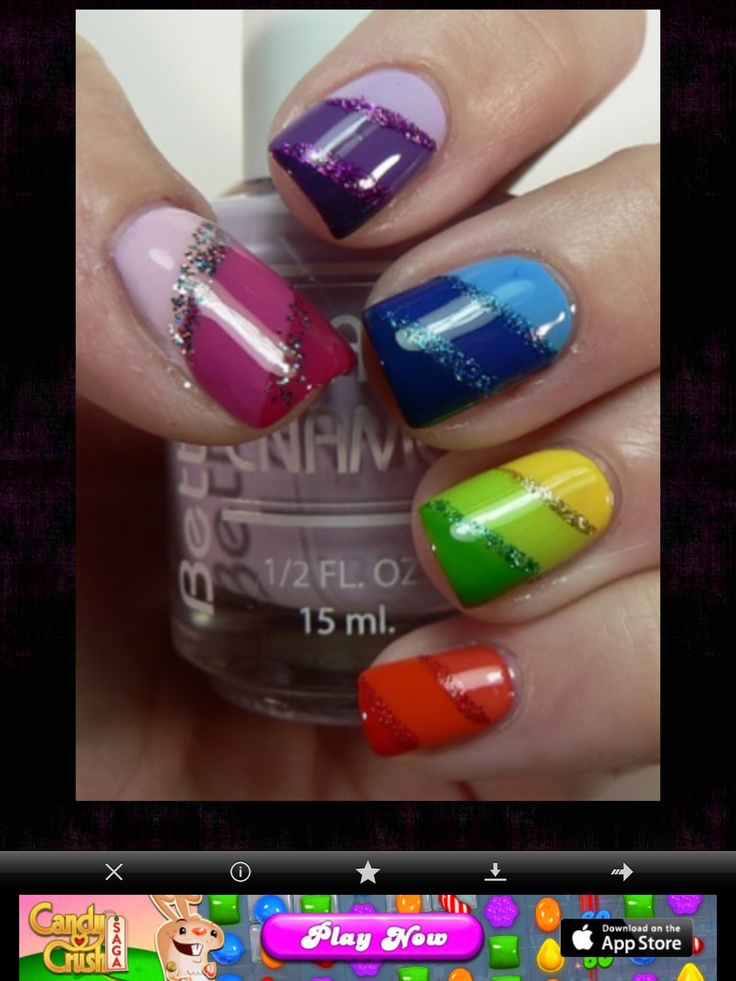 Design for short nails !xoxo