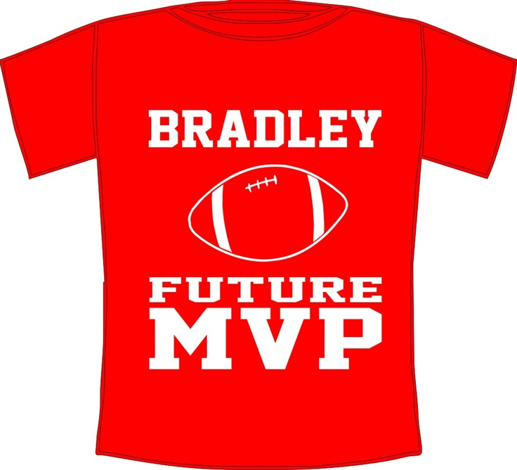 Personalized Future MVP Kids American Football T-shirt Ages 0 to 12 years available