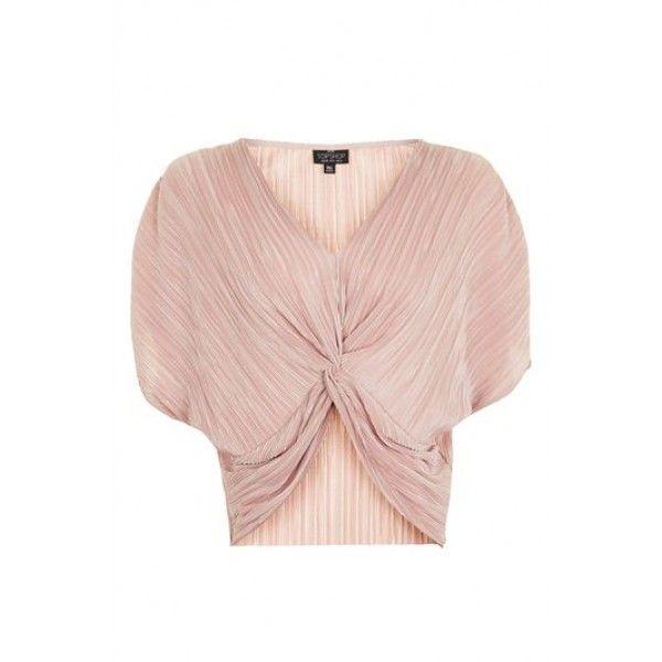Womens PETITE Batwing Twist Front Top - Nude, Nude
