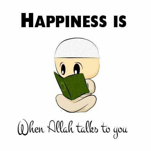 Happiness is when Allah talks to you. ☺️  #Quran #Islam #Faith