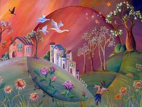 Pintura costas arte naif pinterest pintura - Pinturas para halloween ...