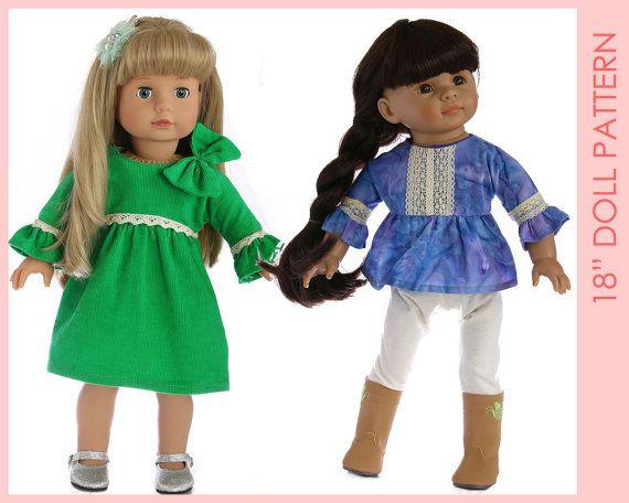 18 inch doll pattern Doll Dress Pattern Doll Patterns 18
