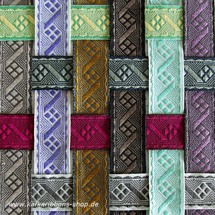 "our #Jacquard #ribbon ""Zacke"", 15mm wide and available in 20 colors."