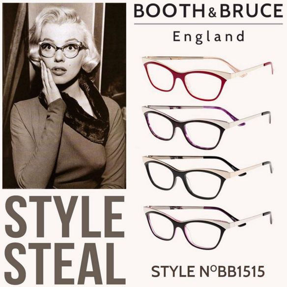 """Repost from Booth & Bruce England: """"Steal Marilyn's glamorous Hollywood style with our BB1515... Any of our 4 colours will give you a bit of glam chic!"""" Fabulous darling!!  #eyewear #YYC #YYCLiving"""