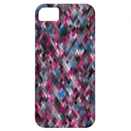 Harlequin _Scarlet_401a - by Greta Thorsdottir - iPhone 5 case from Zazzle