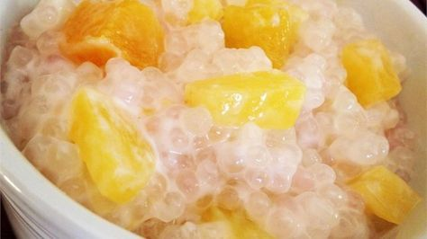 This is a Cambodian recipe that I've learned from a Cambodian-American friend of mine. I'll even eat it for breakfast! It's delicious served warm, can be dressed up with other fruit and is also a refreshing cold dessert.