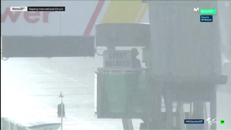Malaysian GP Race Delayed due to Heady Rain
