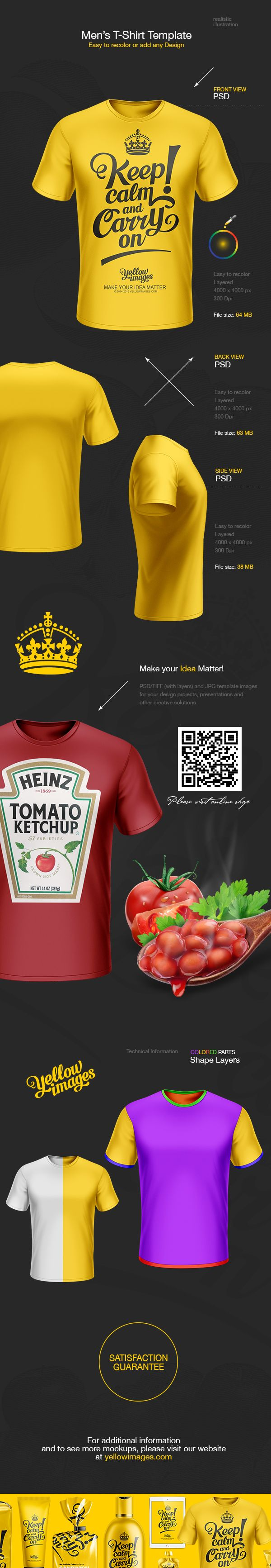 Scalable t shirt mockups more info - Men S T Shirt Template On Behance