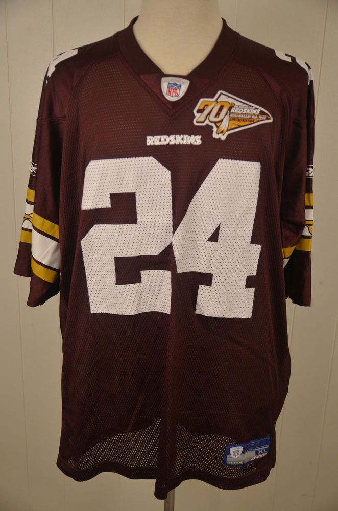 10d68198 Reebok Washington Redskins 70th Anniversary #24 Champ Bailey NFL ...