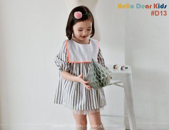 kids sewing pattern pdf/ girl's sailor collar dress/ baby sewing pattern/ children clothing/Toddler sewing pattern/12M-6years
