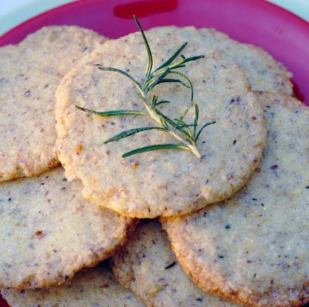 Galletitas saladas o crackers de limón y romero   #Receta de cocina   #Vegana - Vegetariana ecoagricultor.com