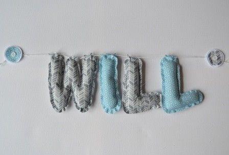 Fabric Name Bunting Lovely Grey Blue - Decor - Nursery & Bedroom