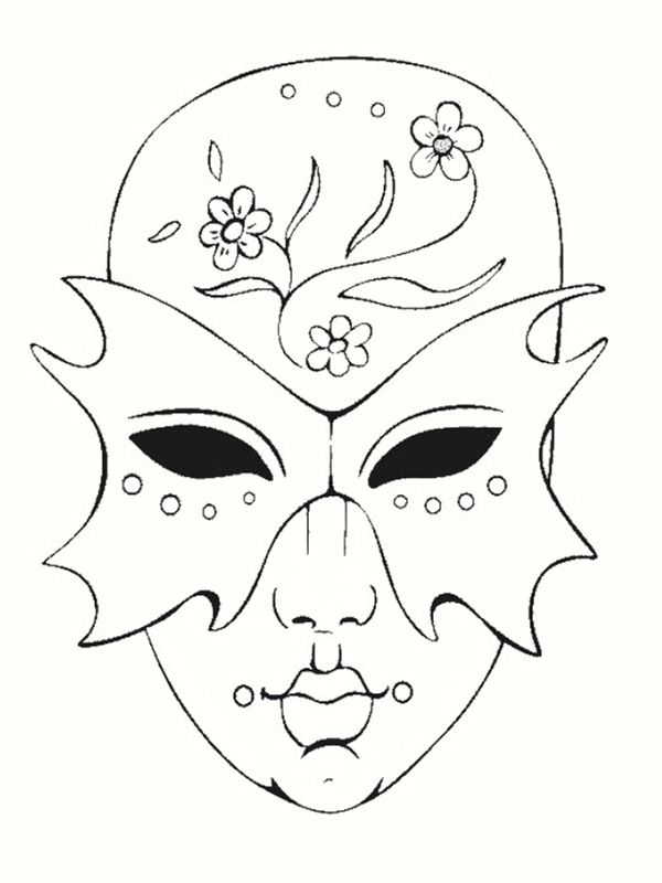 coloriage masques de carnaval