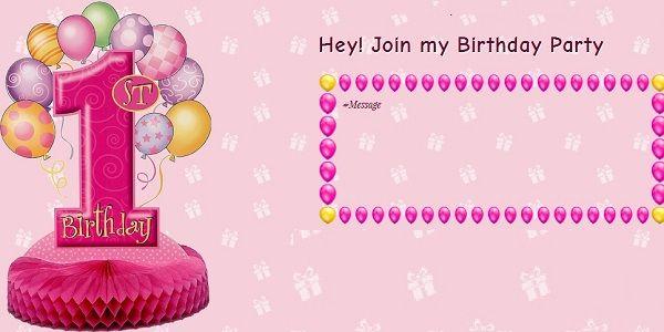 1st Birthday Invitation Card 1st Birthday Invitation Card Ideas For Friend Birthday Invitation Card Online First Birthday Invitations 1st Birthday Invitations