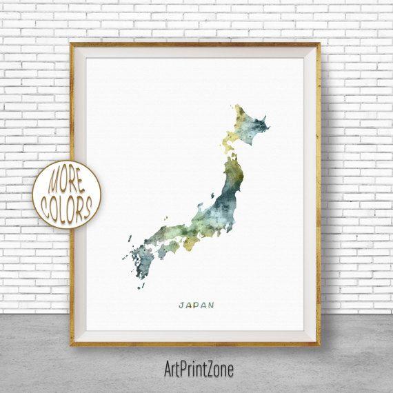 Giappone Mappa stampa arte Giappone mappa