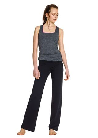 Love the freeness in this clothing elastic pants sports crop bra tank top si comfy.  <3