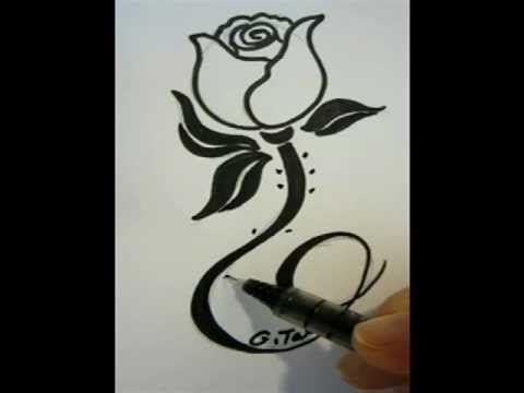 how to draw fancy letters az step by step