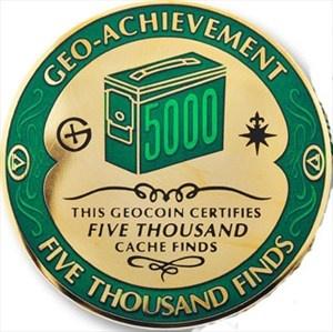 5000 Finds Geocoin Geocaching, World, Coins