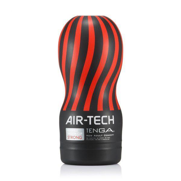 Tenga - Air-Tech Reusable Vacuum Cup (strong) - Masturbatory  Poznaj zapierające dech w piersiach wrażenia, jakie oferuje Tenga Air-Tech! Specjalnie zaprojektowana struktura Airflow, uformowana w postaci spiralnych korytarzy wewnątrz tego najwyższej jakości masturbatora pozwala odczuć niesamowicie intensywne uczucie ssania, które może być kontrolowane za pomocą kciuka.   Dostępny na www.tabu24.pl