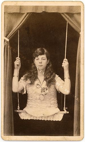 I always wonder how people with this condition go to the bathroom...    Circus Freak - Girl on a Swing by Jack Mord