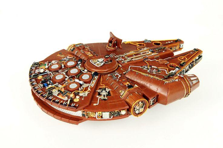 Steampunk Millenium Falcon by Yun Yeochang