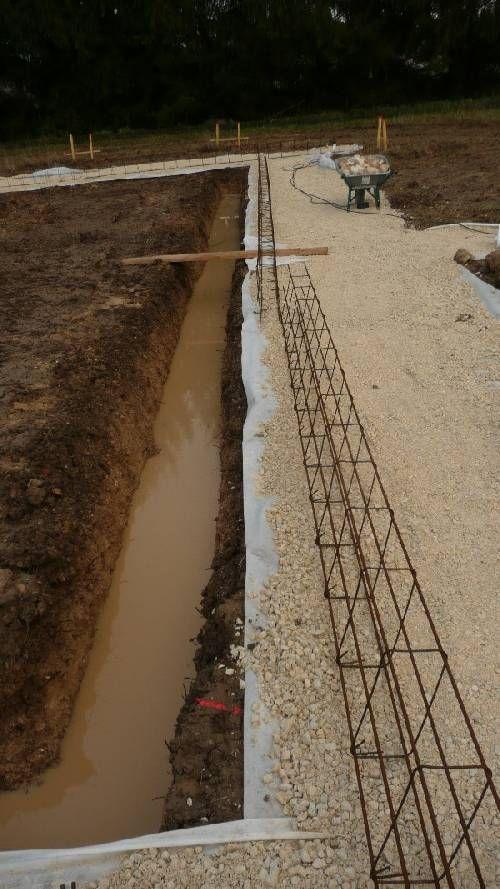 Réalisation du terrassement et des fondations - Autoconstruction maison en ossature bois