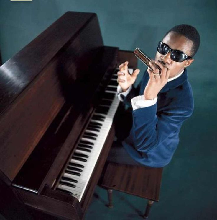 Stevie Wonder~born Stevland Judkins in Saginaw, Michigan in 1950. Began his performing career with Motown at age eleven.