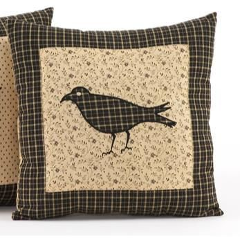 The Country Village Shoppe features the Kettle Grove Crow Pillow 16x16 from Victorian Heart.