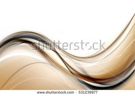 Design trendy element. Brown gold black modern bright waves art. Blurred pattern effect background. Abstract creative graphic template. Decorative business concept.