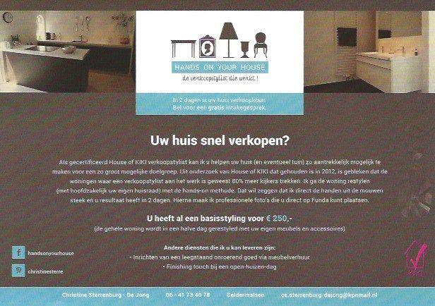 Flyer van HANDS ON YOUR HOUSE !