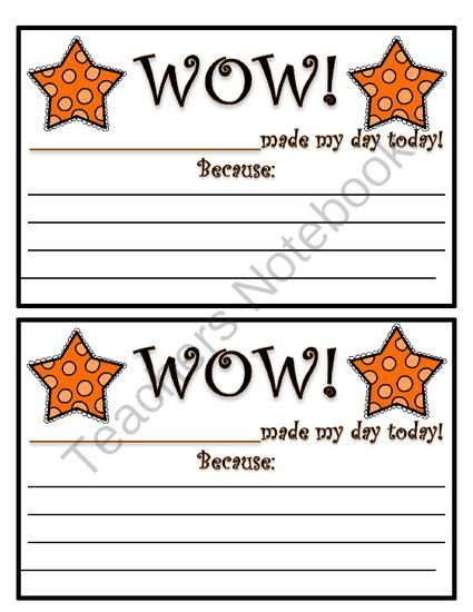 Classroom Reward Ideas For Kindergarten ~ Printable positive notes home from teacher reflection