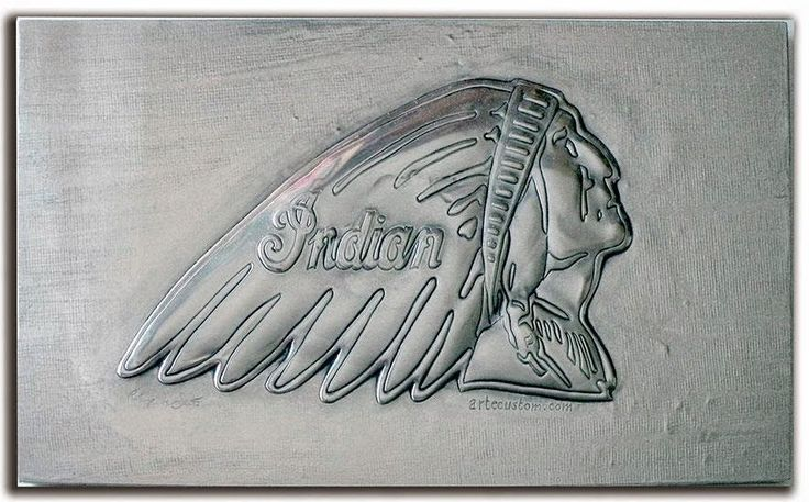 ArteyMetal: Placa custom indian 1