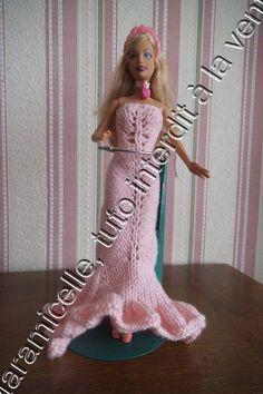 tuto gratuit barbie : robe longue de soirée