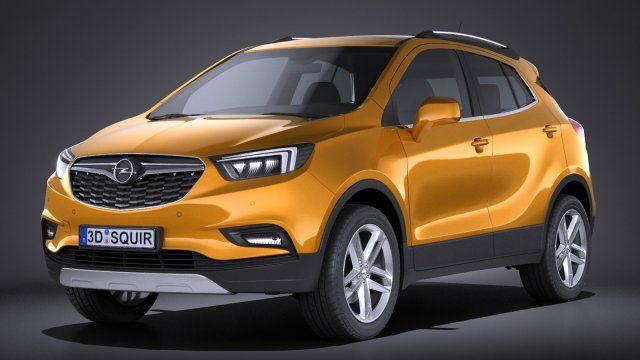 Opel Mokka X 2017 3D Model .max .c4d .obj .3ds .fbx .lwo .stl @3DExport.com by SQUIR