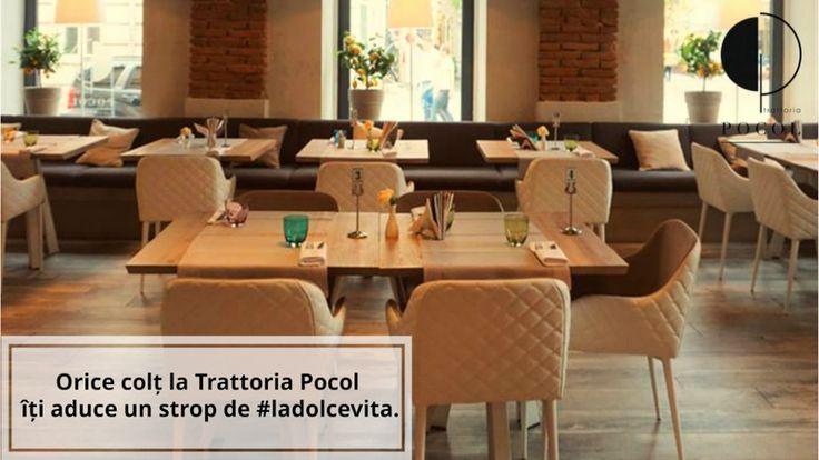 Trattoria Pocol. Brasov. Food. Italian. Restaurant. Interior. Comfortable. Relaxed area.