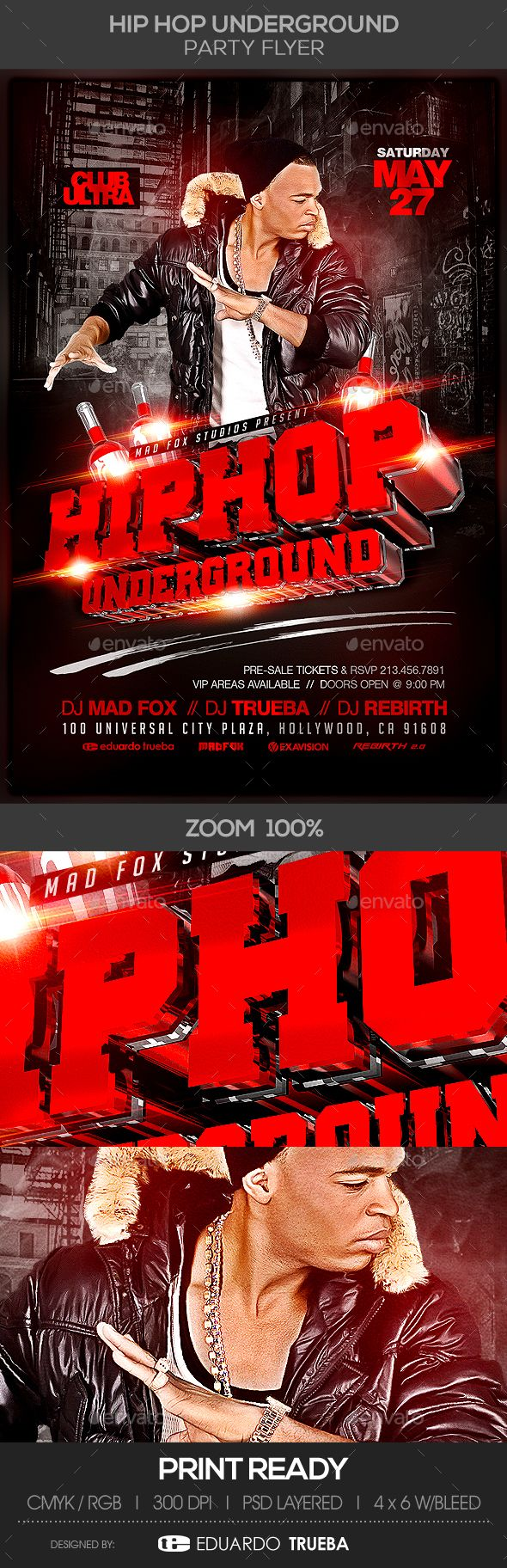 Hip Hop Underground #Party #Flyer - Clubs & Parties Events Download here: https://graphicriver.net/item/hip-hop-underground-party-flyer/19715532?ref=alena994