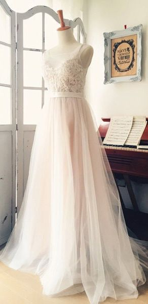 A Line Wedding Dresses,Long Wedding Dresses,Lace Wedding Dresses, White Bridal Gowns