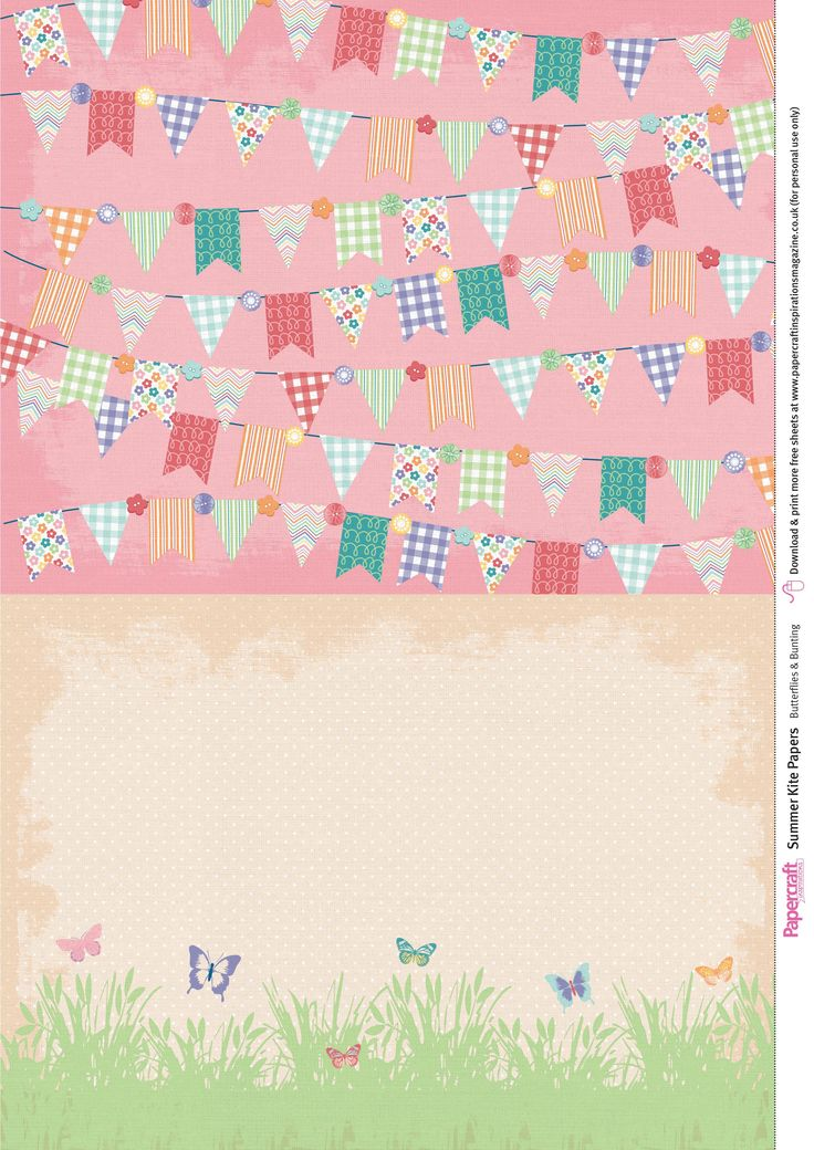 Papercraft Inspirations 153 free digital papers – Summer Kites