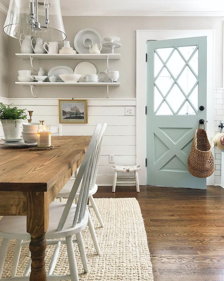 White farmhouse dining room inspiration by Loren f…