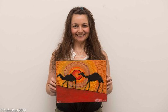 One of a kind Camel ORIGINAL PAINTING by by DreamsofCreationAust